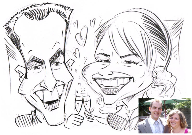 Wedding caricature_1