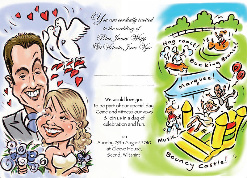 caricature_wedding invite