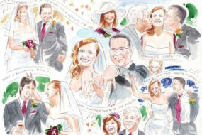Wedding caricatures 1
