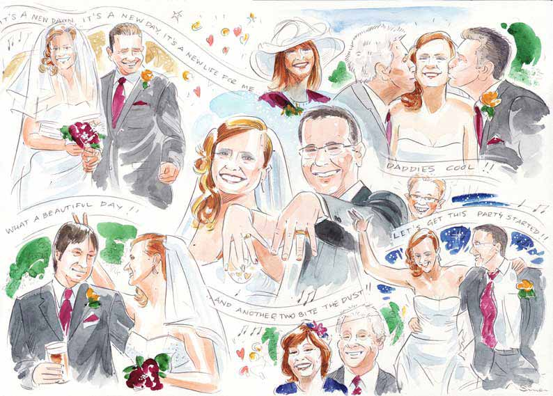 Wedding collage by SImon Roberts