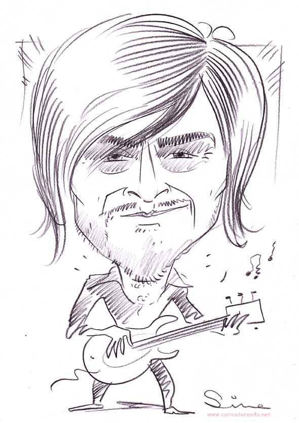 band guitar caricatures